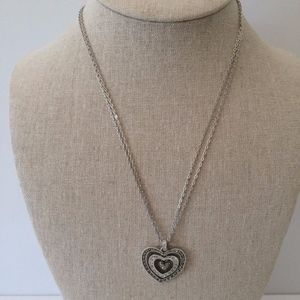 Judith Jack Sterling Silver Heart Pendant Necklace